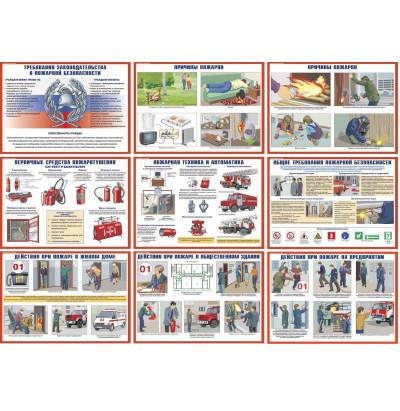Плакаты Умей действовать при пожаре (10 шт. 300*400) цветные