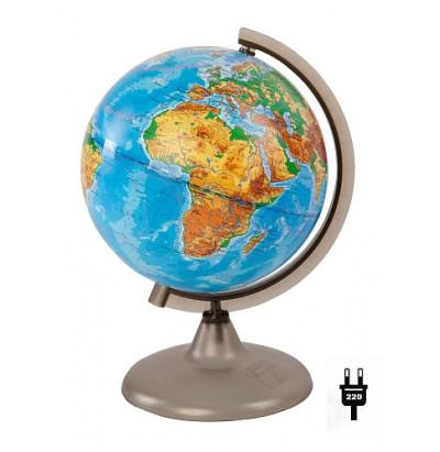 Глобус Земли физический. D=200 с подсветкой
