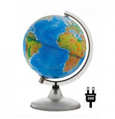 Глобус Земли двойная карта D=200 с подсветкой