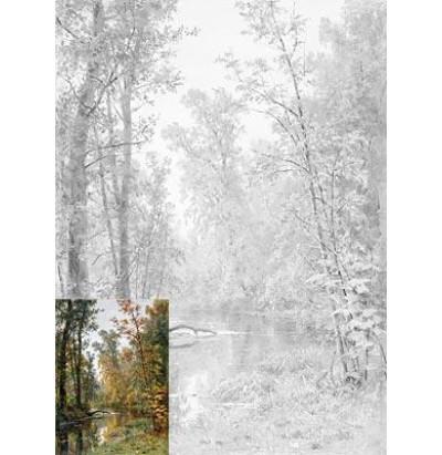 Пособие для практических занятий Осенний пейзаж. Парк в Павловске Шишкин И.И. 30х40