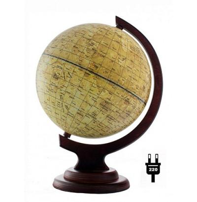 Глобус Луны D=210 (дуга,подставка-дерево) с подсветкой