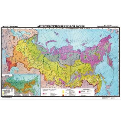 Карта Агроклиматические ресурсы России